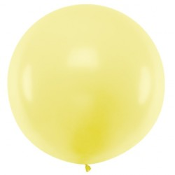 Pastel Light Yellow Giant Balloon 100cm