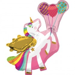 Winged Unicorn SuperShape Foil Balloon