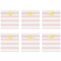 Pastel Pink Stripes Treat Bags