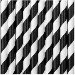 Cannucce righe nero e bianco 250pz