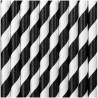 Black Striped Paper Straws 250pc