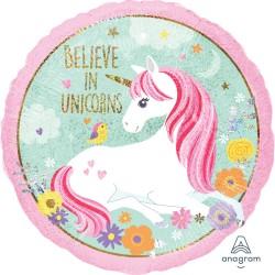 Magical Unicorn Foil Balloon - I believe in Unicorns
