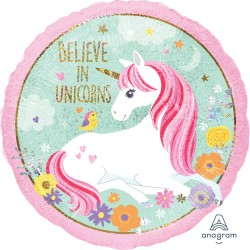 Magical Unicorn Foil Balloon - I believe in Unicorns