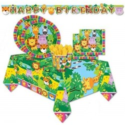 Jungle Friends Party Kit 90 pieces