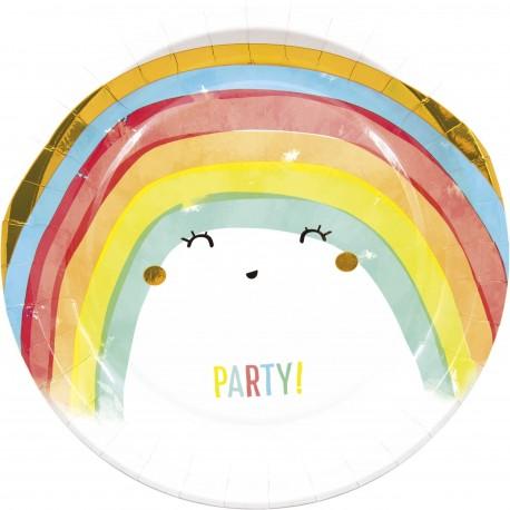 Rainbow Pastel Plates
