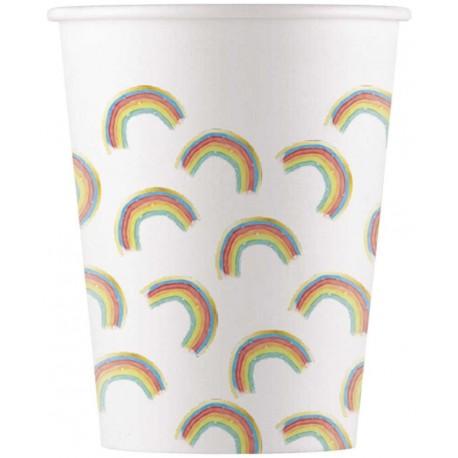 Rainbow Pastel Cups