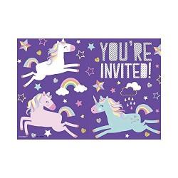 Unicorn Rainbow Invitations