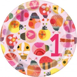 Ladybug 1st Birthday Dessert Plates
