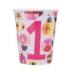 Ladybug 1st Birthday Party Cups
