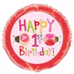 Ladybug 1st Birthday Foil Balloon