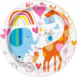 Baby Zoo Plates for 1st Birthday Parties and Baby Shower