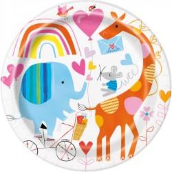 Piatti Festa Primo Compleanno e Baby Shower Baby Zoo