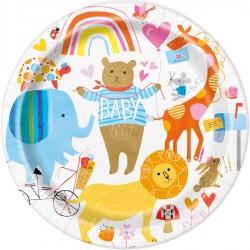 Baby Zoo Dessert Plates
