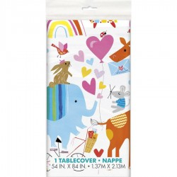Baby Zoo Party plastic tablecover