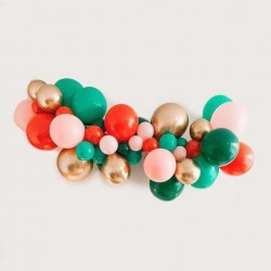 Pink Christmas Balloons Garland Kit