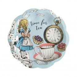 Alice in Wonderland Dessert Plates eco-friendly