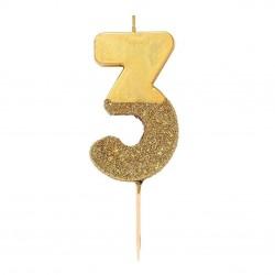 Golden Glitter Candle 3