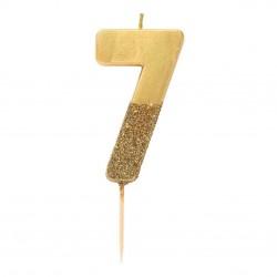 Golden Glitter Candle 7