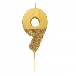 Golden Glitter Candle 9