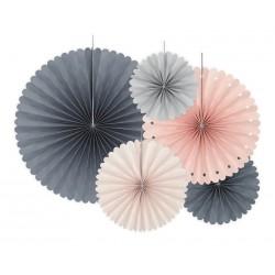 Decorative paper Rosettes Mix