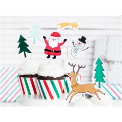 """Christmas Party Supplies - """"Merry Xmas"""" Toppers Set"""