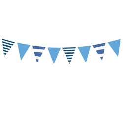 Striped Blue Flags Banner