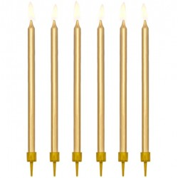 Gold candles 12 pc
