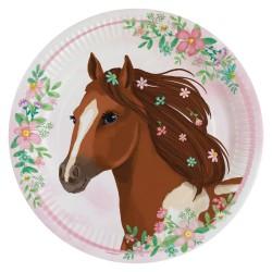 Beautiful Horses Party Plates