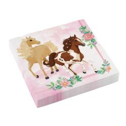 Beautiful Horses paper party napkins