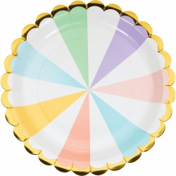 Pastel and Golf Foil Plates