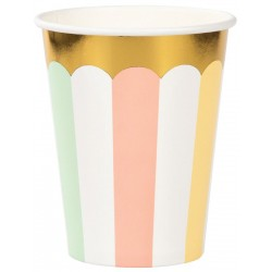 Pastel and Gold Foil Cups