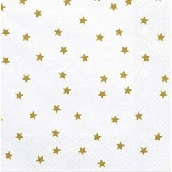 White and Golden Stars Napkins