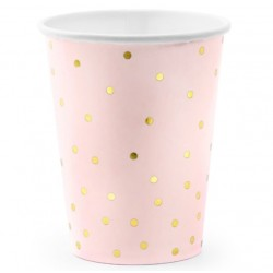 Light Pink and Golden Dots Cups