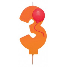 Birthday Candle with balloon 3