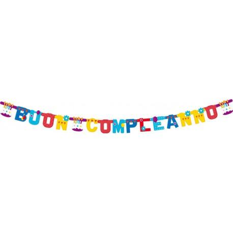 Banner Buon Compleanno Torta 3m