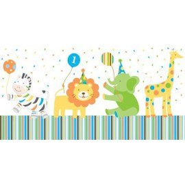 Sweet at One Boy Plastic Tablecover