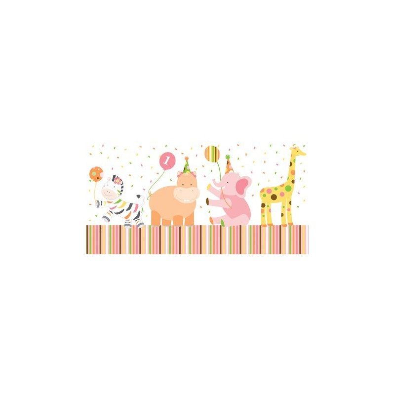 First Birthday Party Sweet At One Girl Plastic Tablecover