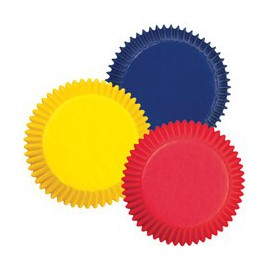 Mini Cupcakes Baking Cups Red, Yellow, Blue