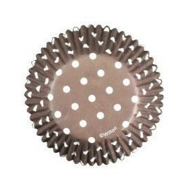 Cupcakes Baking Cups Brown Dots