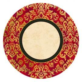 Classical Christmas Dessert Plates