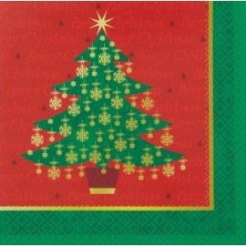 Golden Christmas Lunch Napkins
