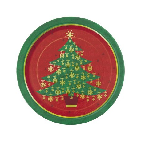 Christmas Tree Plastic Tablecover