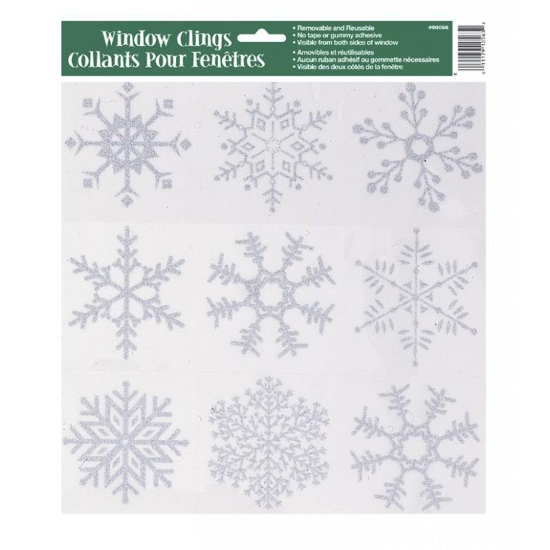 Adesivi fiocchi di neve per finestre - Adesivi natalizi per finestre ...