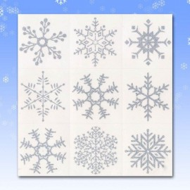 Adesivi Fiocchi di Neve per Finestre