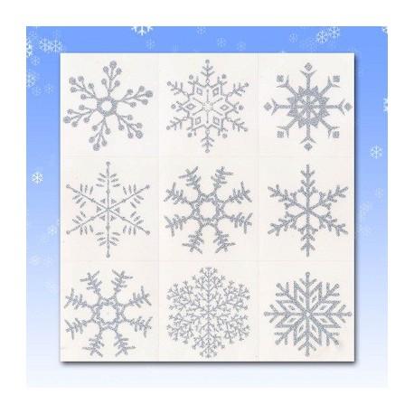 Glitter Snowflake Window Cling