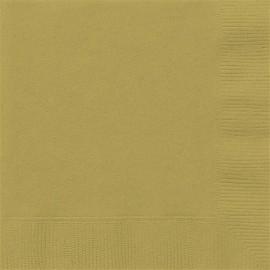 Golden Paper Lunch Napkins