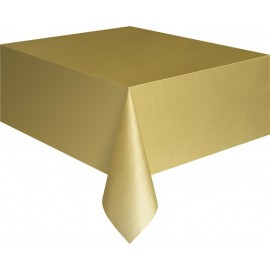 Golden Plastic Tablecover