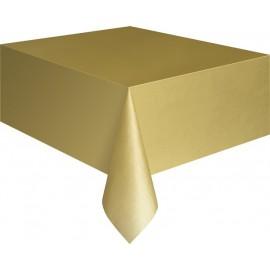 Golden Plastic Tablecover