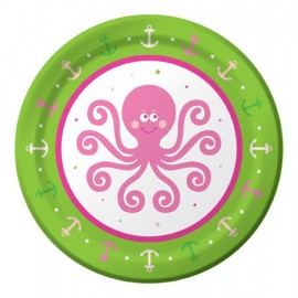 Ocean Preppy Girls Dessert Plates