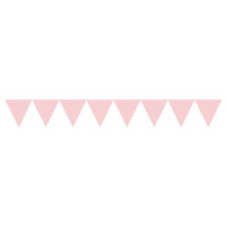 Light Pink Flags Banner 10m